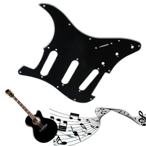 1PC 3 Ply Electric Guitar Pickguard Scratch Plate For Black ST - Sunfield Music