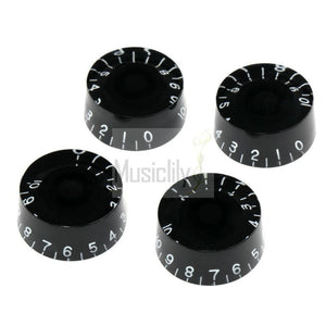 4Pcs Black Left Handed Metric Plastic Speed Control Knobs For LP - Sunfield Music