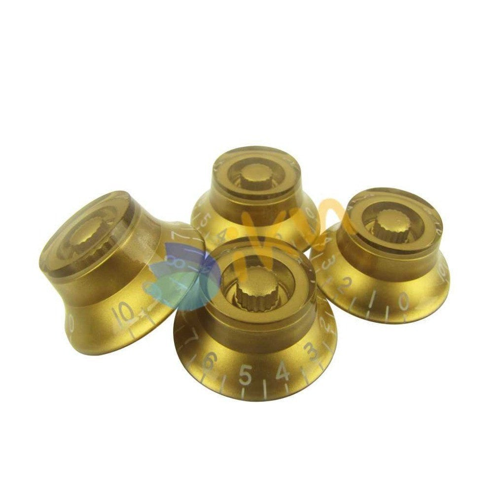 4pcs Gold Left Handed Speed Control Knobs 0-10dB for LP - Sunfield Music