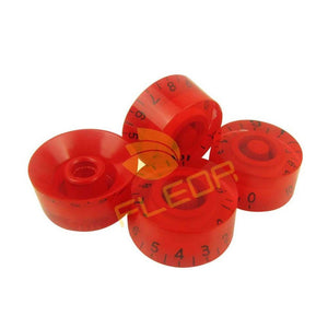 4pcs Red Volume, Tone, Speed Control Knobs Left Handed for LP Guitar - Sunfield Music
