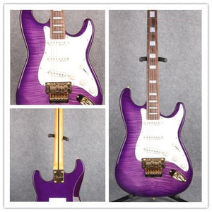 Purple ST with Floyd Electric Guitar