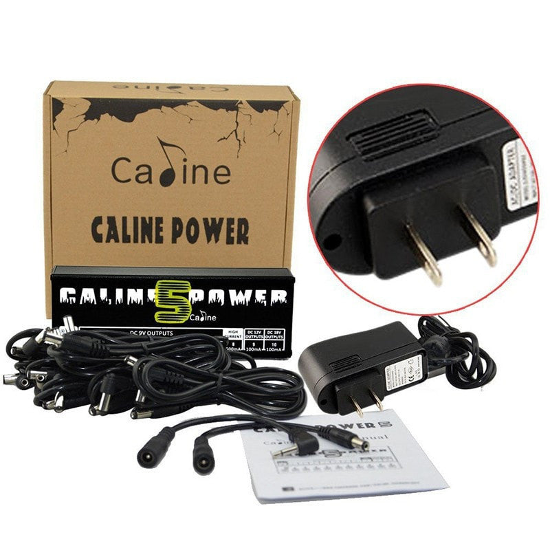 Caline CP-05 Effect Pedals Power Supply 10 Isolated Outputs - Sunfield Music