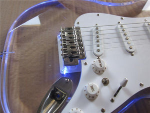 Acrylic Blue LED ST Electric Guitar