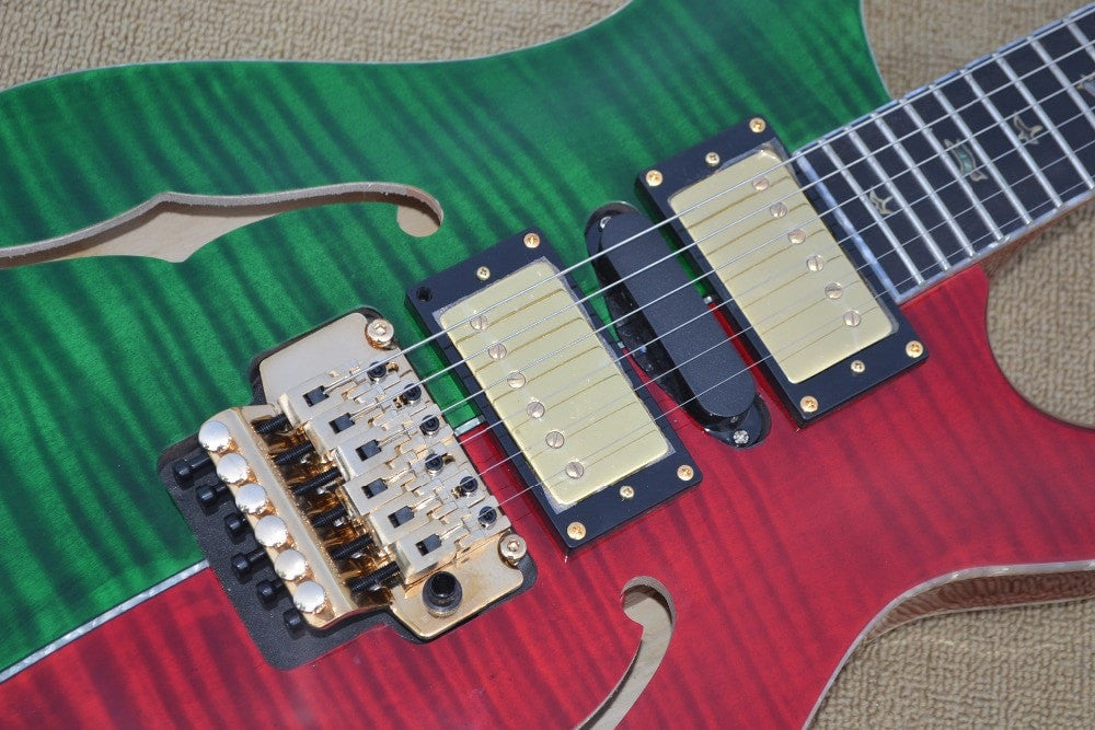 Custom Red & Green PSR Electric Guitar
