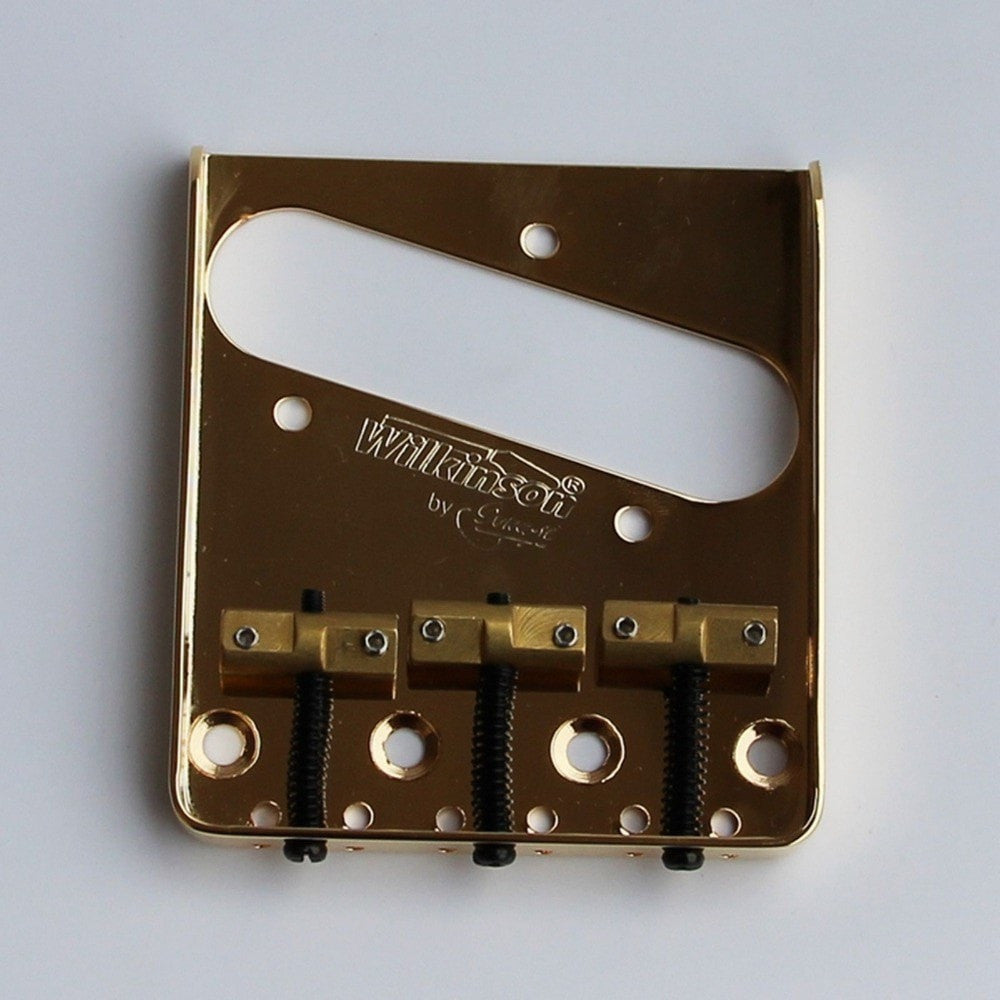 NEW Gold WTB Ashtray Bridge for Tele guitars, with Brass Saddle