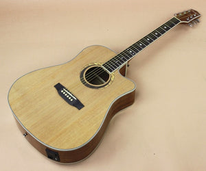 Electro Acoustic 6 String Picea Mahogany with Built-in Tuner Cutaway - Sunfield Music