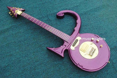 Custom Purple Prince Symbol Electric Guitar with Hard Case