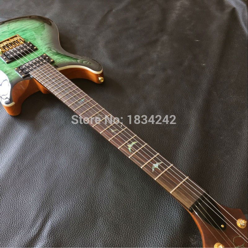 Custom Green Wave PSR Electric Guitar