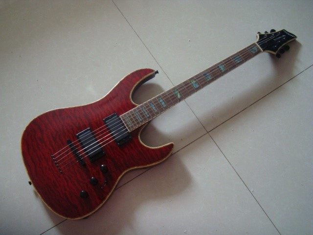 PSR Red Brown with EMG Pickup and Quilted Top Electric Guitar