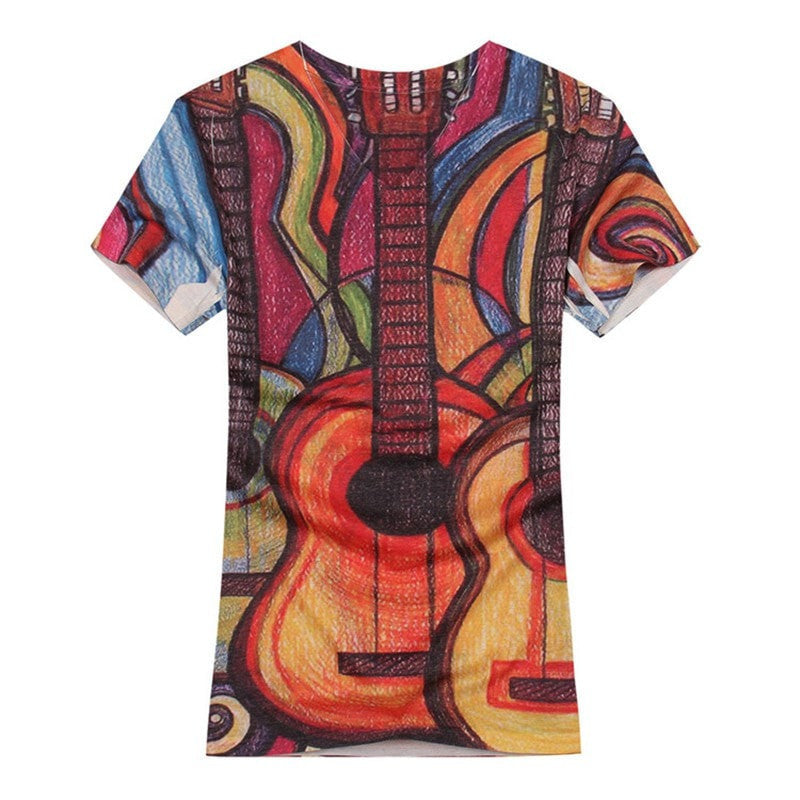 3D Acoustic Stained Glass T-Shirts - Sunfield Music