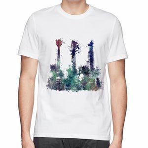 3 Guitar Abstract Cotton T-shirt - Sunfield Music