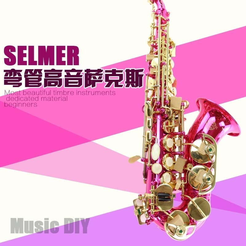 Pink and Gold French Henri Selmer Soprano B