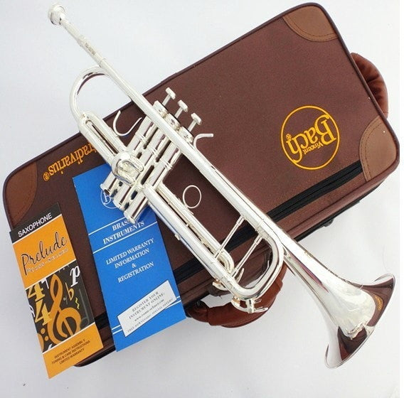 American Bach Authentic Double Silver-Plated TR-190GS B flat Professional Trumpet - Sunfield Music
