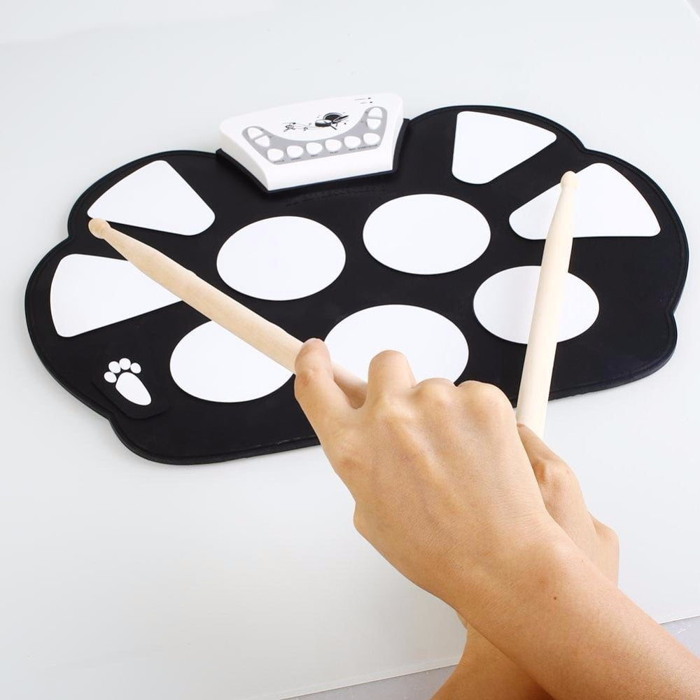 Professional Portable Electronic Roll Up Drum Pad with Stick