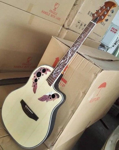 Round Back Ovation Acoustic Guitar