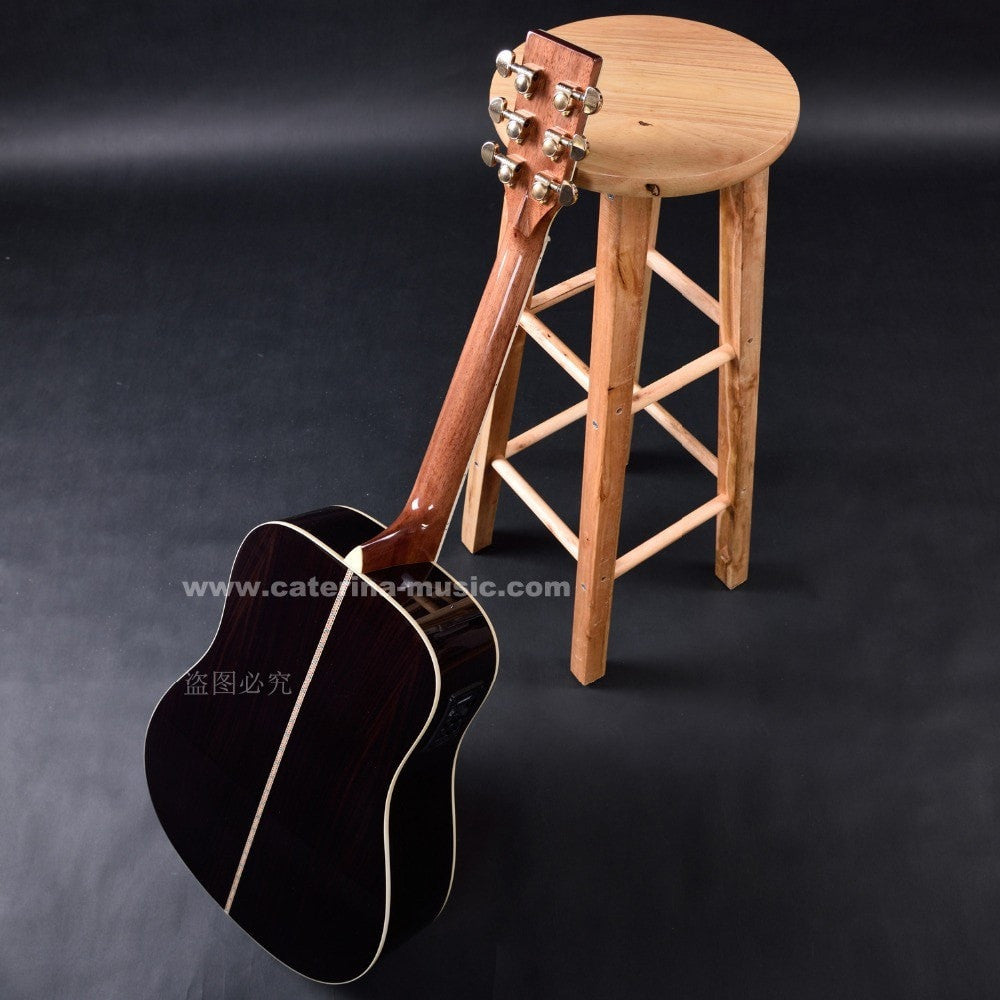 Handmade Acoustic Guitar, Dreadnought Delex Fingerboard and Luxury Carving - Sunfield Music