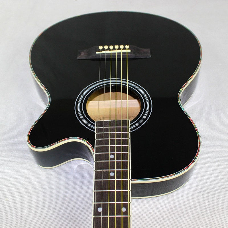 Black Thin Body Electro Acoustic Electric - Sunfield Music