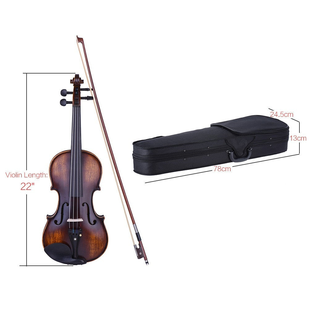 3/4 & 4/4 Size Violin Fiddle Matte-Antique - Sunfield Music