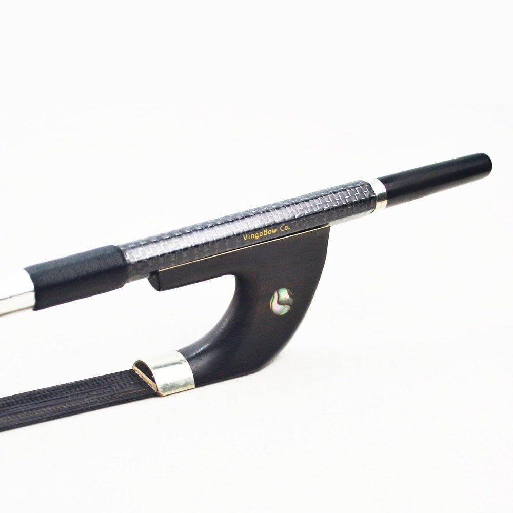 Silver Braided German Model Carbon Fiber Double Bass Bow For Concerto Level - Sunfield Music