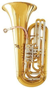 Bb Junior Tuba Height 827.5mm Bell size 367.5mm Brass Body with Foambody Case - Sunfield Music