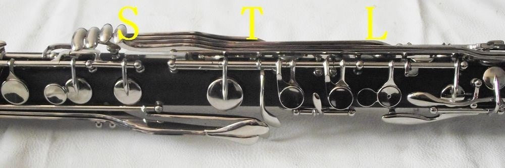 New Bass Clarinet Bb Key Hard Bakelite Body Nickel Plated