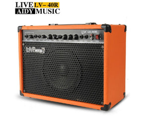 LV-40R Acoustic Folk Electric Guitar Speaker Amplifier by Live Music