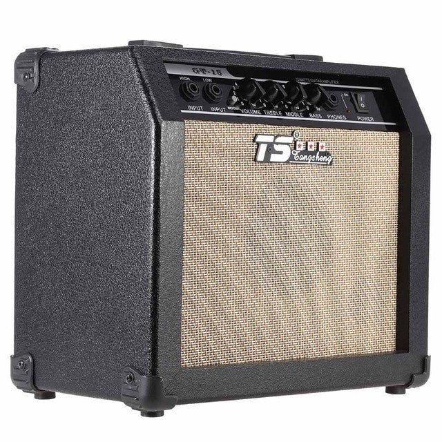 High Quality GT-15 Professional 3-Band EQ 2 Channel Electric Guitar Amplifier - Sunfield Music