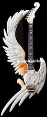 Hand Carved Custom Electric Guitar with New Angel Design - Sunfield Music