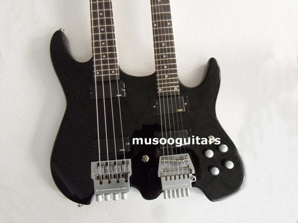 Double electric headless electric guitar and bass