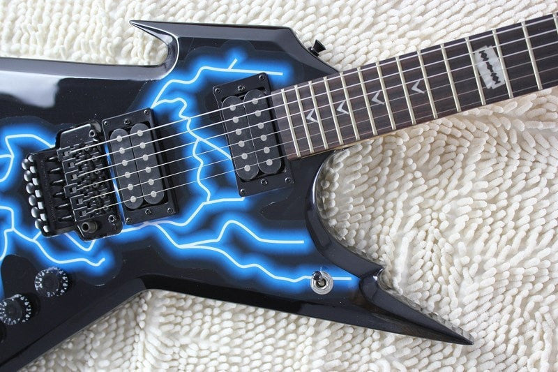 Dean RAZORBACK DIMEBAG electric guitar with floyd rose bridge and Lightning Finish