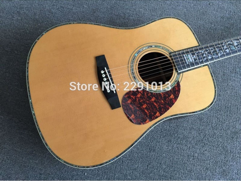 Solid Spruce Top Rosewood Back Side Dreadnought Acoustic Guitar with Fishman EQ