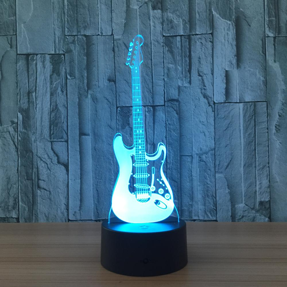Designer 3D Electric Guitar LED Lamp
