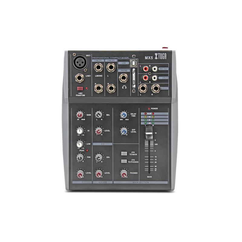 M5 5 Channel 3-Band EQ Audio Mixing Console