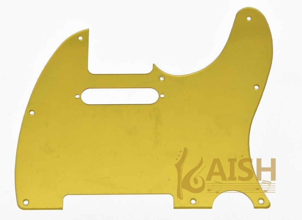 Gold Mirror 1 Ply Guitar Pickguard/Scratch Plate for TL