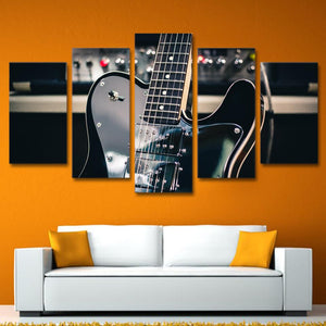 Limited Edition 5 Piece Canvas Art Wall TELE/AMP