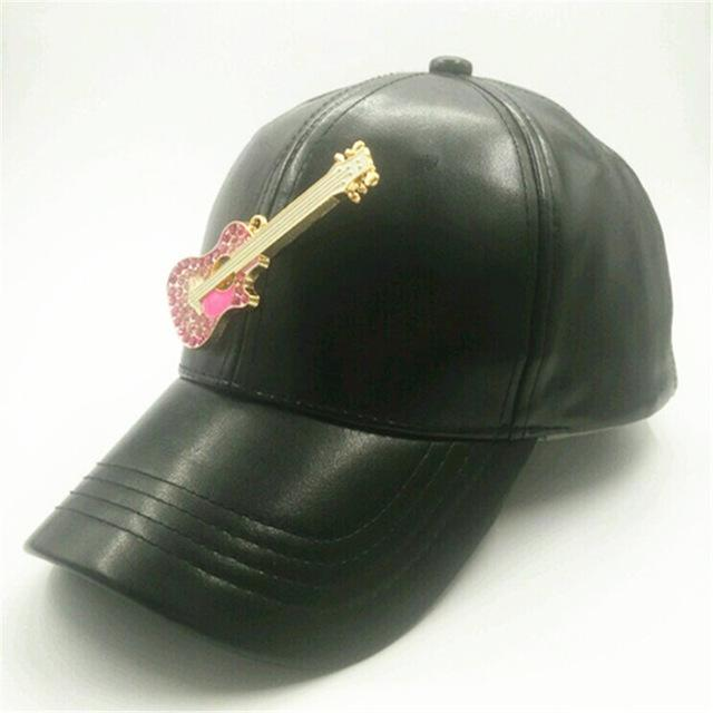Diamond Leather Snap Back