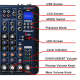Freeboss SMR8 Bluetooth 8 Channel (4 Mono + 2 Stereo) 16 DSP Sound Console