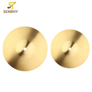 SENRHY 8/10 Inch Copper Alloy Crash Cymbal Set
