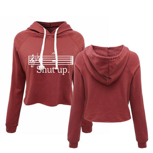 Shut Up Women's Cropped Hoodie