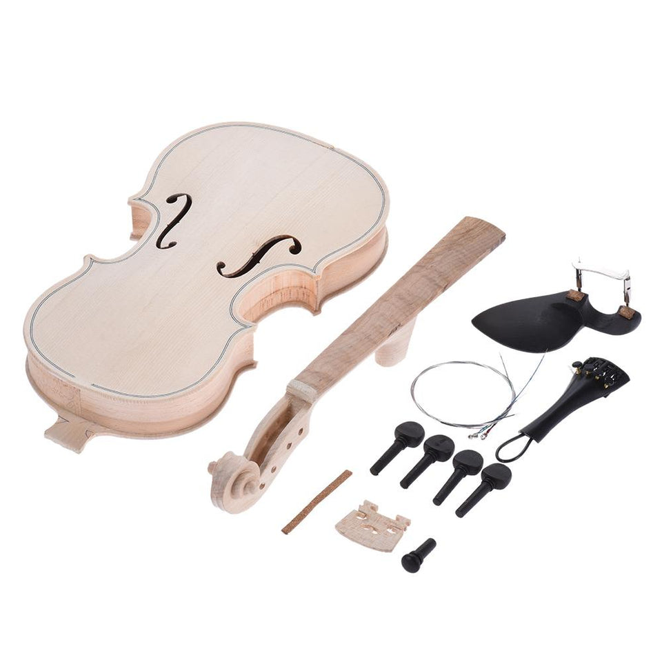 4/4 Size Natural Solid Wood DIY Violin Kit