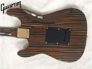 Zebra Wood ST Electric Guitar