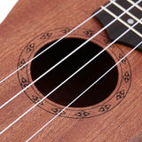 "21"" Ukulele 4 Strings Hawaiian Sapele with Rosewood Fretboard Smoothly Polished"