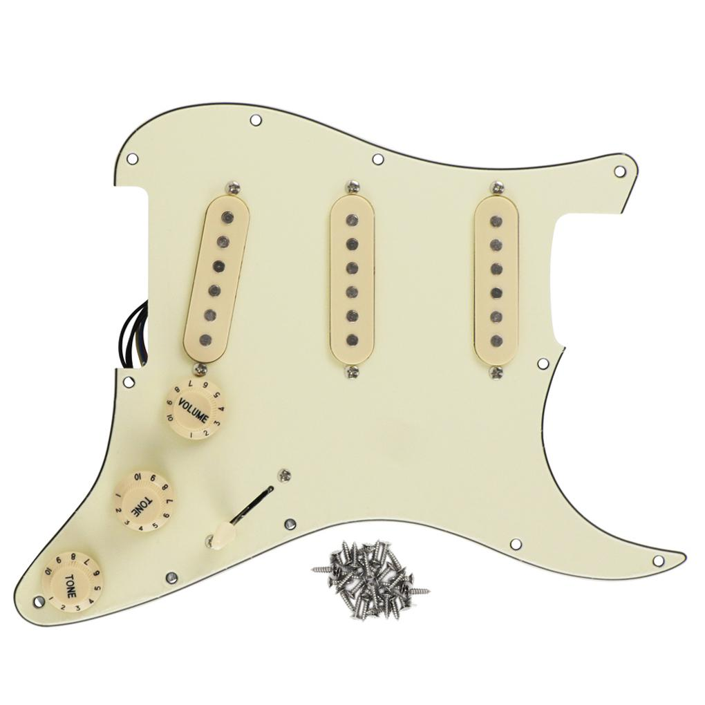 Cream Loaded Pickguard Strat Style