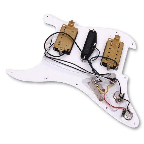 HSH59 Loaded Pickguard White HSH