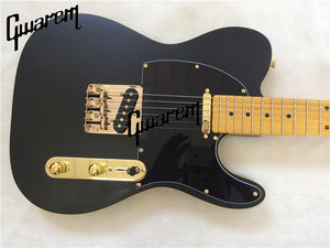 Black and Gold TL Electric Guitar