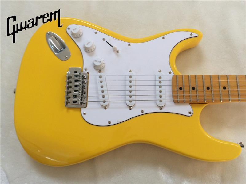 Canary Yellow ST Electric Guitar