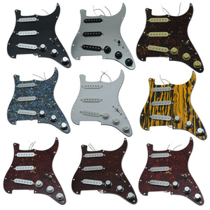 Various Loaded Pickguards Prewired SSS for ST Electric Guitars