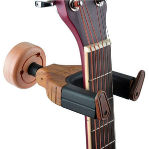 Wooden Guitar Display Wall Mount with Auto Grip System