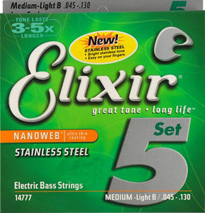 Elixir Polyweb Nanoweb Coating ANTI-RUST plain steels Bass Electric Acoustic Guitar Strings