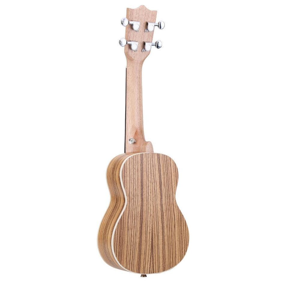 "21"" Zebrawood Ukulele 